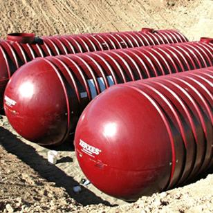 22,000 Gallon Xerxes Underground Fiberglass Non Potable/Waste Water Tank - Diameter 10'-0
