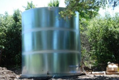 "25,000 Gallon Welded Steel Galvanized Water Storage Tank - Diameter: 13'-7"" Peak Height: 25'-6""-0"