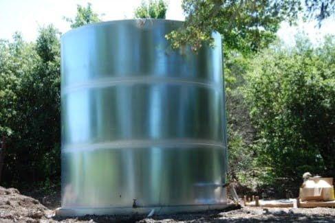 10,000 Gallon Welded Steel Galvanized Water Storage Tank