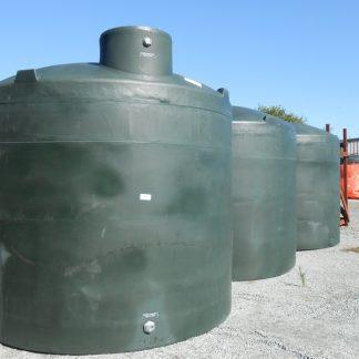 "5,000 Gallon Green Plastic Water Storage Tank 120""D x 114""H-0"