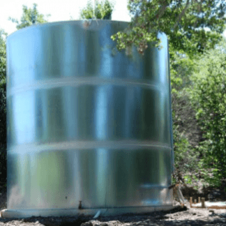 1,000 Gallon Welded Steel Galvanized Water Storage Tank – Diameter: 6'-6'' Peak Height:5'-6''-0
