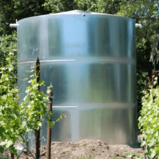1,000 Gallon Welded Steel Water Storage Tank with Interior Epoxy Coating – Diameter: 6'-6'' Peak Height: 5'-6''-0