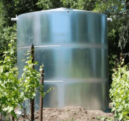 1,000 Gallon Welded Steel Water Storage Tank with Interior Epoxy Coating – Diameter: 6'-6'' Peak Height: 5'-6''-0