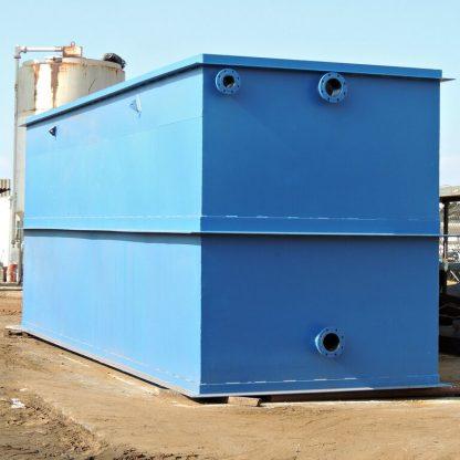8' x 8' x 24' Rectangular Steel Waste Water Tank-0