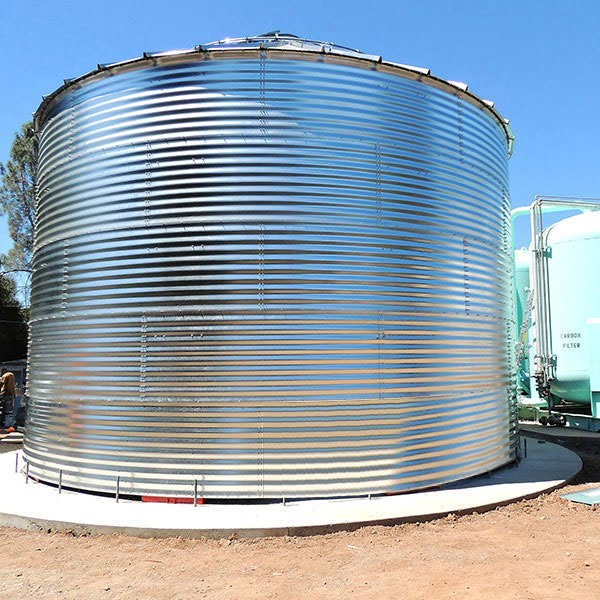 SteelCore Galvanized Water Storage Tank With 30 Degree Roof
