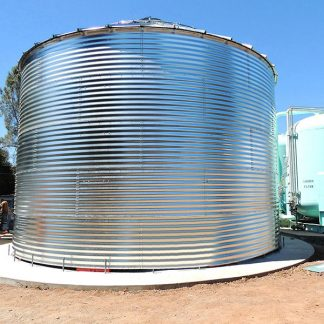 SteelCore Galvanized Water Storage Tank With 30 Degree Flat Panel Roof-0