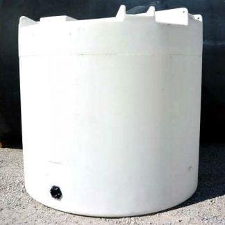 "300 Gallon White Plastic Water Storage Tank 36""D x 82""H -0"