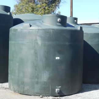 "2,600 Gallon Green Plastic Water Storage Tank 96""D x 98""H-0"