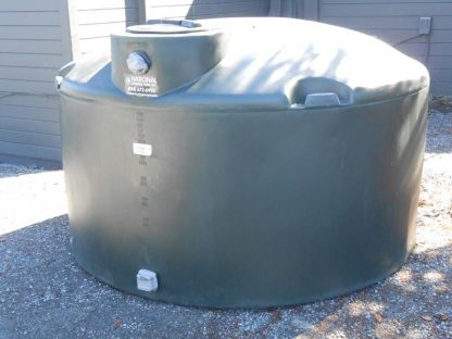 "1,100 Gallon Green Plastic Water Storage Tank 86""D x 53""H-0"