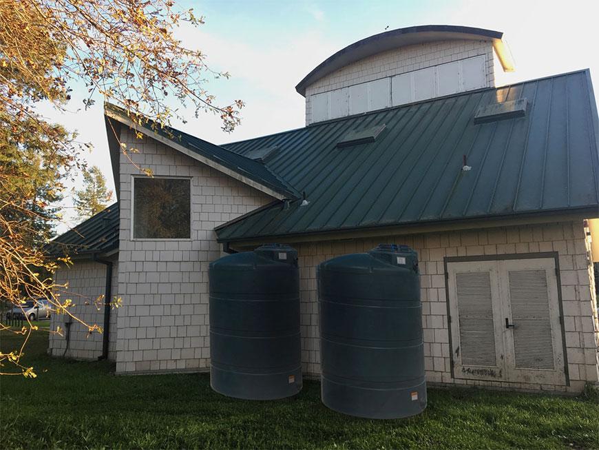 Example rainwater capture barrels using Photoshop