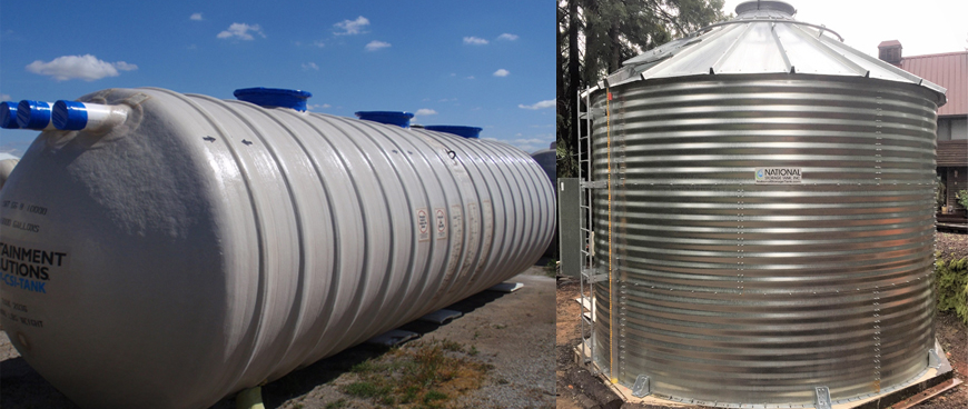 Above Ground vs  Underground Water Storage Tanks: The Pros and Cons
