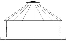 V-Rib 30 Degree Corrugated Tanks