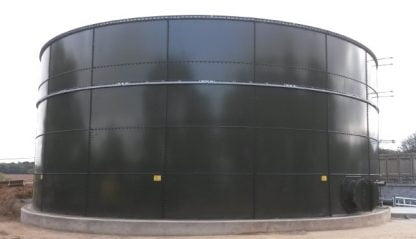 28,000 Gallon Glass-Fused Bolted Steel Tank